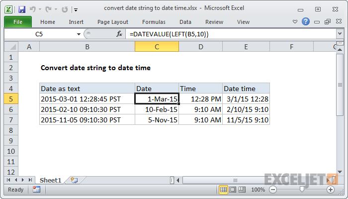 Konverter datastreng til dato tid